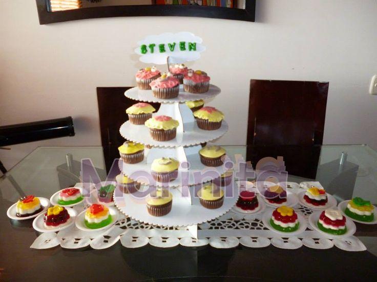 Cupcakes para Cumpleaños Happy Birthday en fondant!