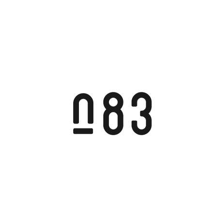 ajicoさんの提案 - 内装デザイン会社「number.83」ロゴマーク   クラウドソーシング「ランサーズ」