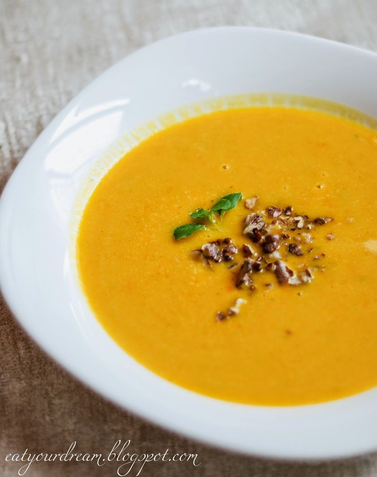 pumpkin soup with peanut butter