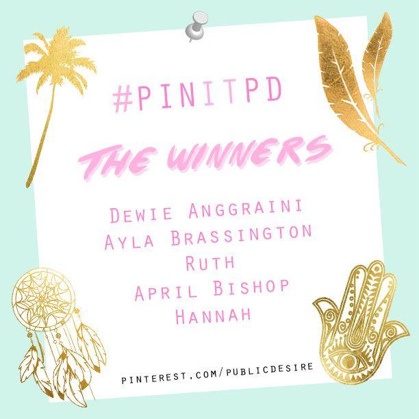 #PINITPD WINNERS
