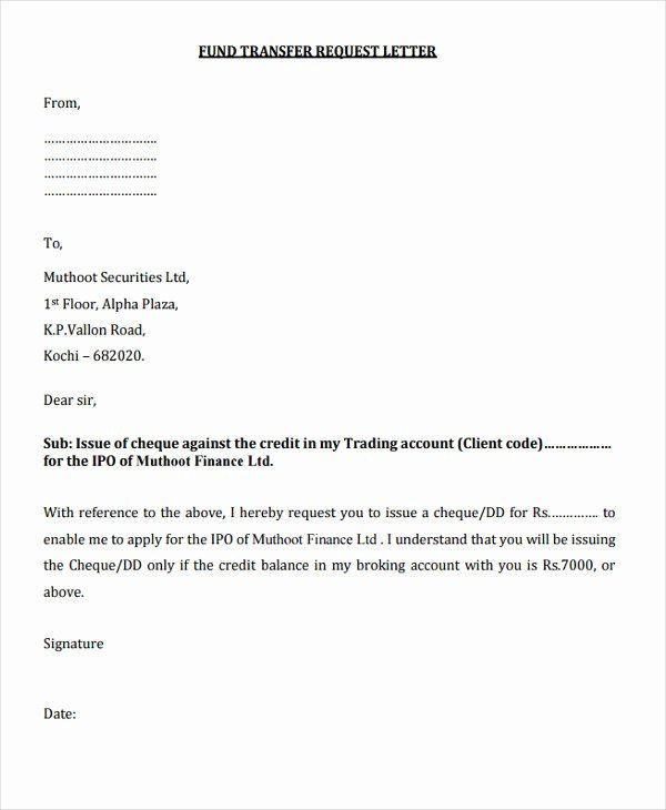 Fund Request Form Template Luxury 20 Transfer Letter Templates In Pdf Letter Templates Contract Template List Of Jobs