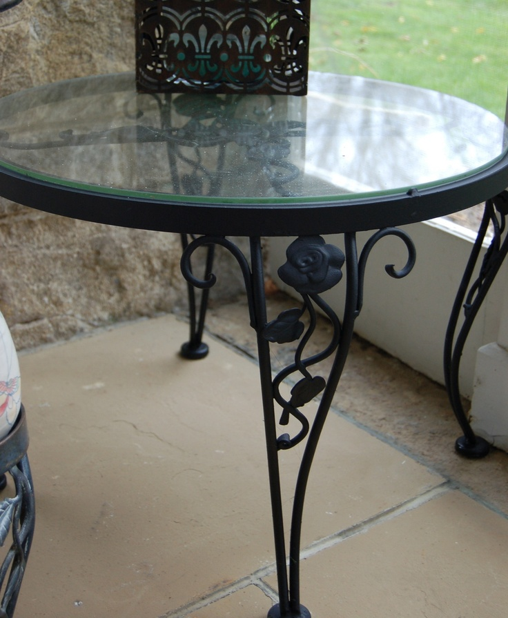woodard chantilly rose pair end tables offered on ebay beginning at vintage patioiron