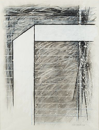 Juhana Blomstedt: Sommitelma, 1978, sekatekniikka, 64x49 cm - Bukowskis Market 4/2016