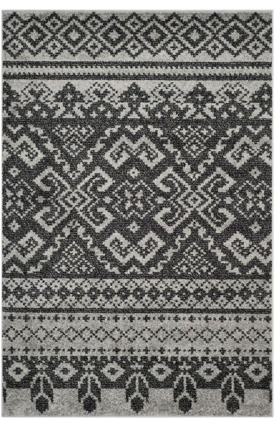 $5 Off when you share! Safavieh Adirondack ADR107 Silver Black Rug | Contemporary Rugs #RugsUSA
