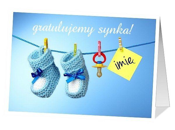 Kartka z gratulacjami z okazji pojawienia się na świecie nowego członka rodziny