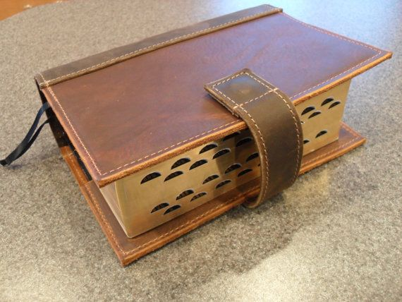 Leather LDS Scripture Case The Quad by UrbanCow on Etsy