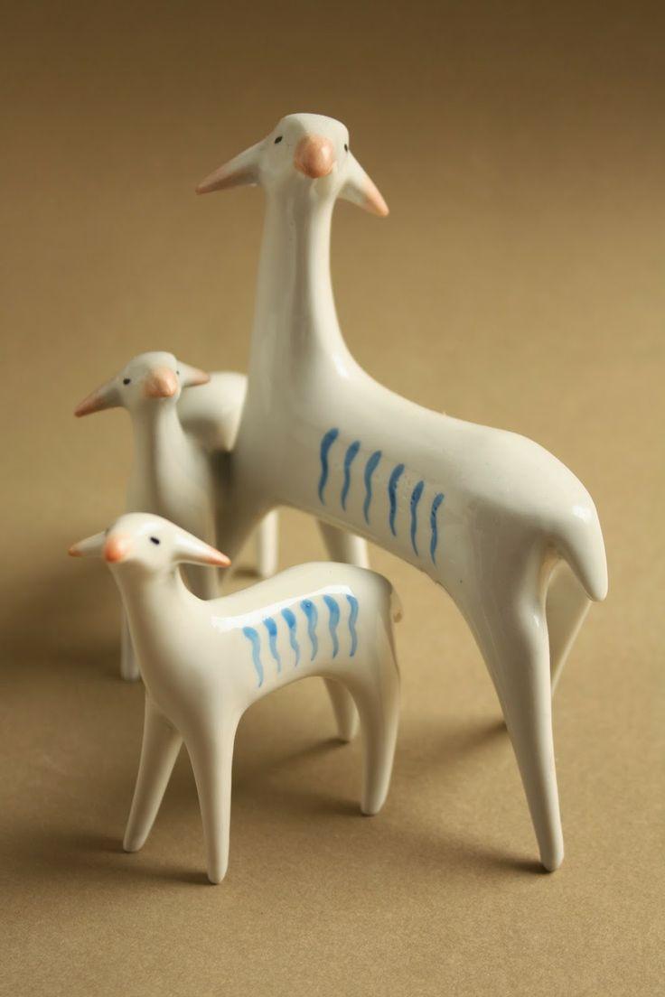 Retro porcelain: little goats - Drasche porcelán
