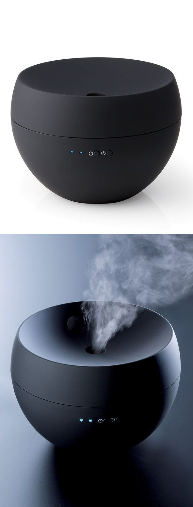 Black Jasmine Aroma Diffuser // the ultra-sonic technology blends essential oil and water together to create a fine mist that fills the room for up to 24 hours