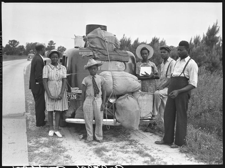 Jack Delano, New Shawboro, NC, 1940. Florida family heading to New Jersey in search of work and better opportunities Check this blog!