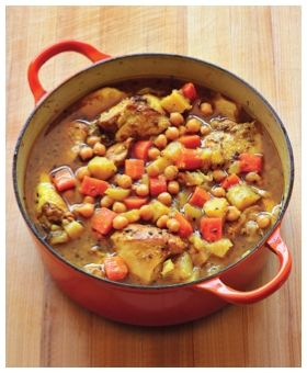 Moroccan Chicken and Vegetable Stew, free of all top allergens and gluten-free
