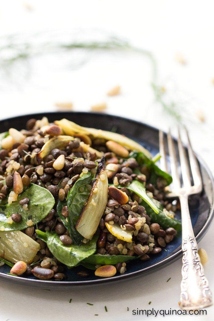 warm lentil salad with spinach quinoa roasted fennel lentil salad ...