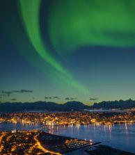 Noorderlicht in Tromsø, Noorwegen