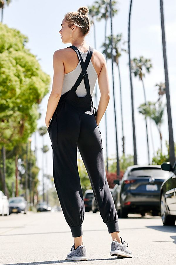 2e00ab81d Jump Start Jumpsuit by FP Movement - Black Lounge Jumpsuit - Soft Black  Jumpsuit - Athleisure Jumpsuits - Workout Jumpsuits - To From Gym Looks -  Athleisure ...
