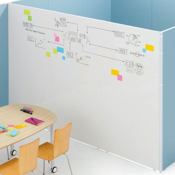 トーカイスクリーン Msパネル 両面ホワイトボードパネル 高さ1830 幅