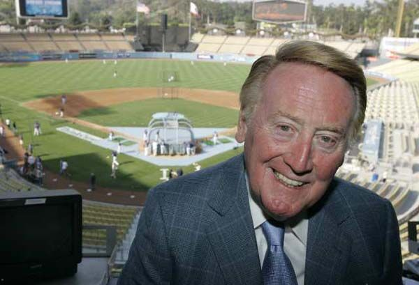 Vin Scully, the best sports broadcaster of all-time.: American Treasure, Dodgers Stadiums, Angel Dodgers, Brooklyn Lo Angel, The Angel, Dodgers Blue, Sports Announcements, Blue Vin, La Dodgers