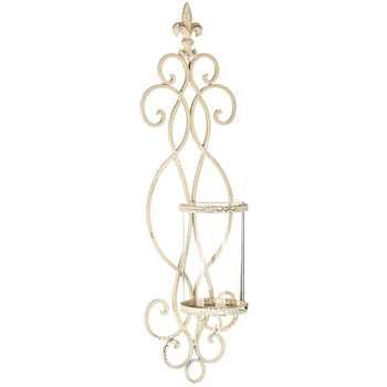 Antique White Metal Wall Sconce   Hobby Lobby   394023 ... on Wall Sconces Hobby Lobby id=96642