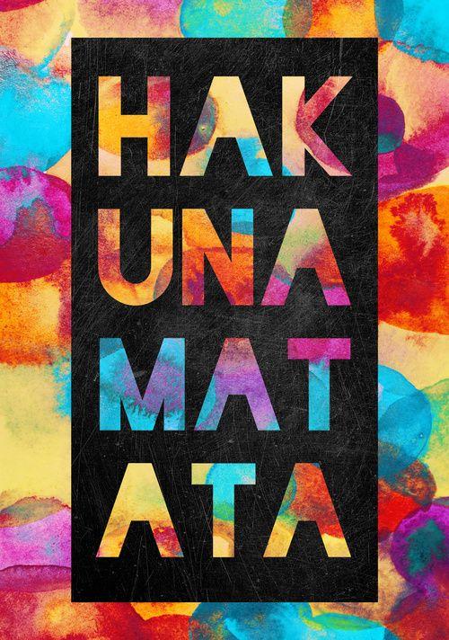 Hakuna matata, siempre en la vida!!!!