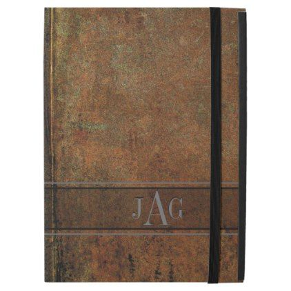"""Rustic Grunge Brown Book Design iPad Pro 12.9"""" Case - rustic gifts ideas customize personalize"""