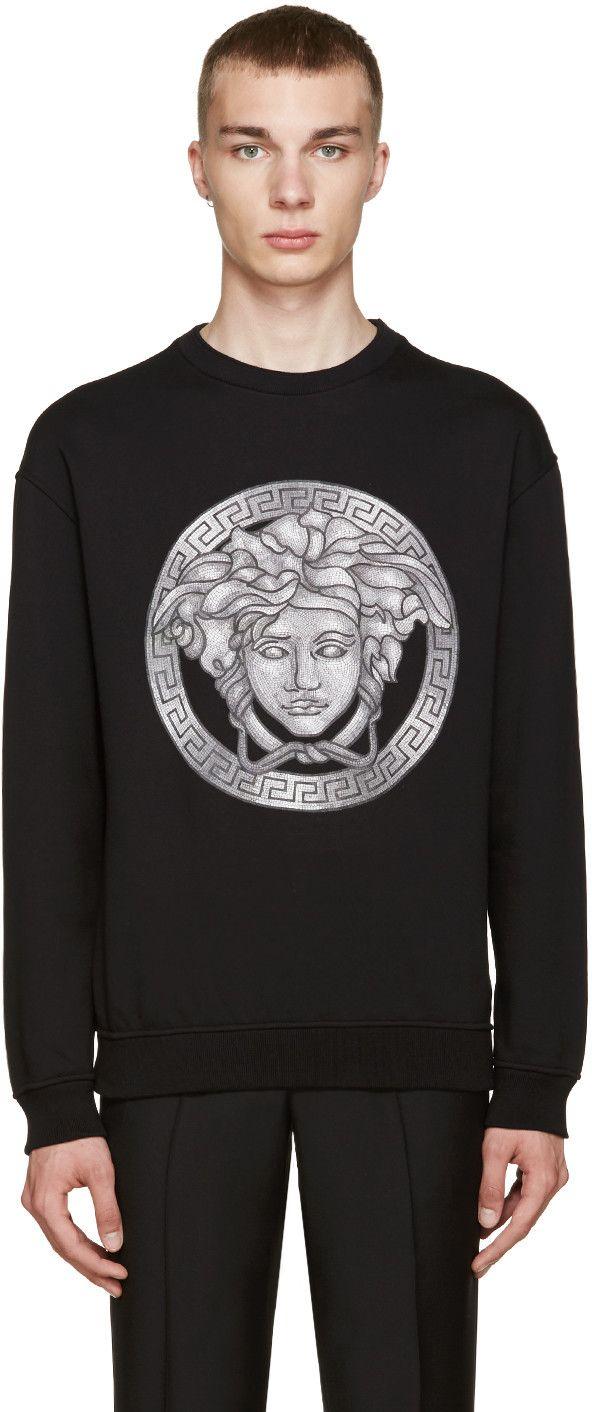 450€ Versace - Pull noir Medusa