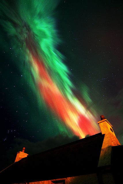 Aurora over Isle of Lewis, Outer Hebrides, Scotland