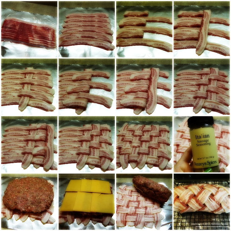 Step by step bacon weave with pictures!