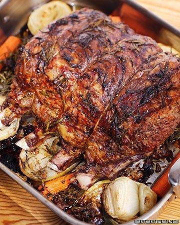 Rib Roast of Beef with Beets, Potatoes, and Horseradish Recipe