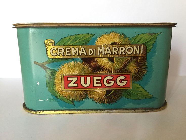 Scatola In Latta Crema Di Marroni Zuegg Lana D'Adige (Bolzano) | eBay