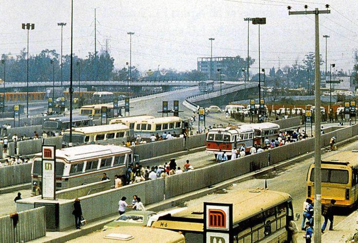 El paradero del Metro Indios Verdes a mediados de los años ochenta.