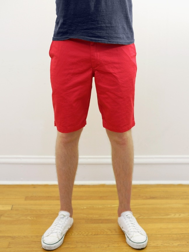 Left Field NYC Organic Red Twill Angus Young Shorts