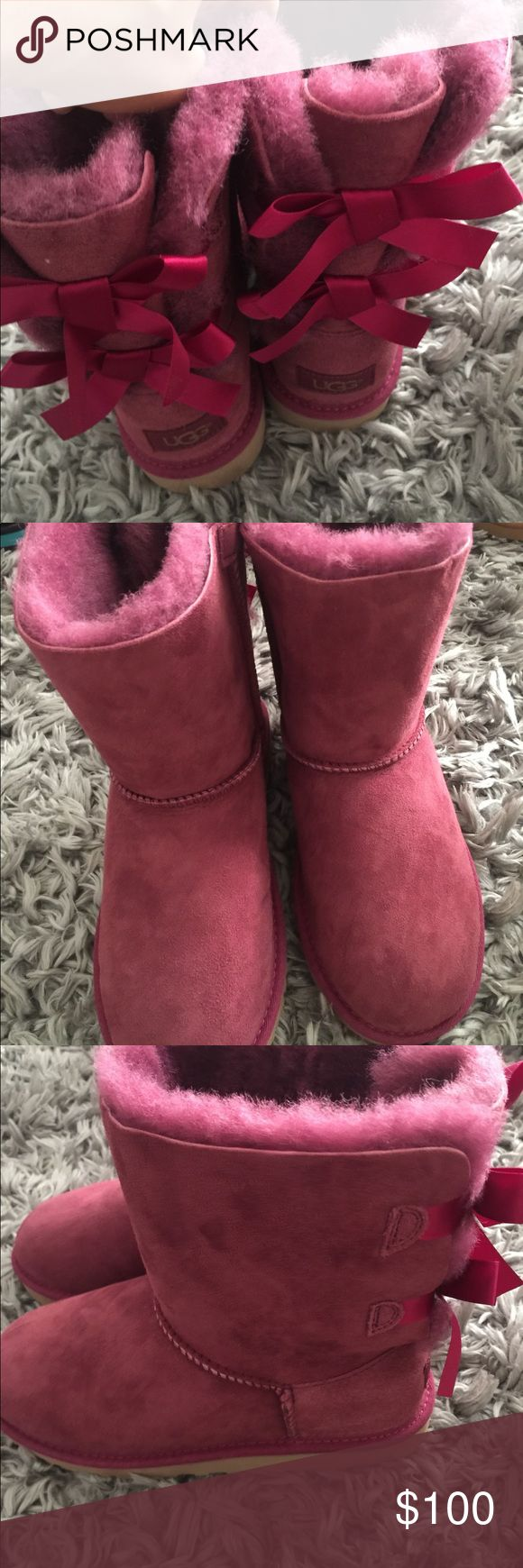 Uggs Bailey bow burgundy New no box Original UGG Shoes Rain & Snow Boots