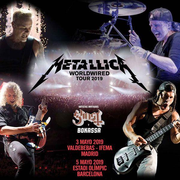 Metallica Estará Tocando En Madrid Y Barcelona El 3 Y 5 De Mayo De 2019 Y Vendrá Acompañado De Ghost Y Metallica Carteles De Concierto Concierto De Metallica