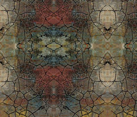 cracked fabric by lindast on Spoonflower - custom fabric