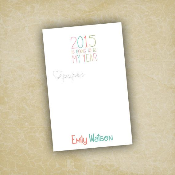 2015 Is Going to be My Year Notepad | Custom Printed To Do List Stationery  Paper