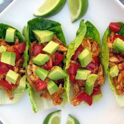 Paleo Chicken Tacos. Sub red pepper flakes are with dash of cayenne powder for guajillo chiles
