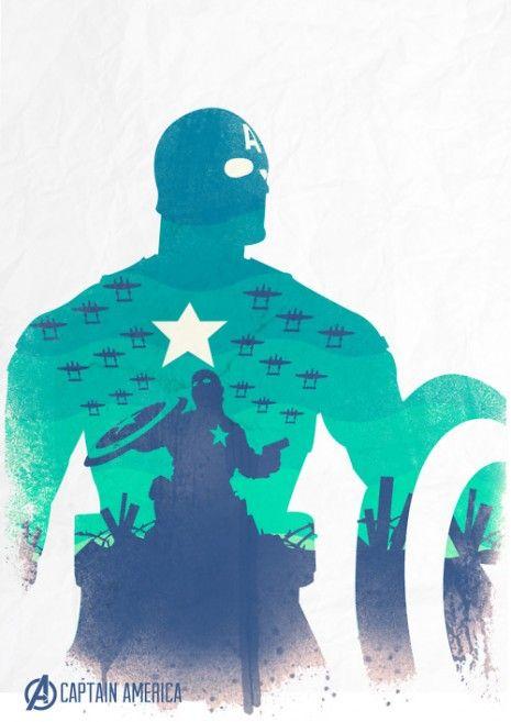 Artistic Avengers « marenkramer: Minimalist Design, Geek Art, Captainamerica, Captain America, Poster, Fans Art, Steve Rogers, The Avengers, Fanart