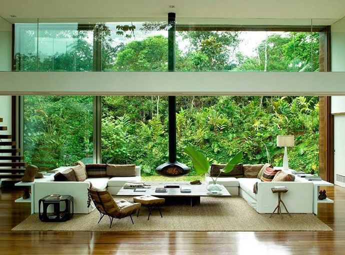 Beautiful Tropical House by Architect Arthur Casas    DesignRulz.com - best living room ever!
