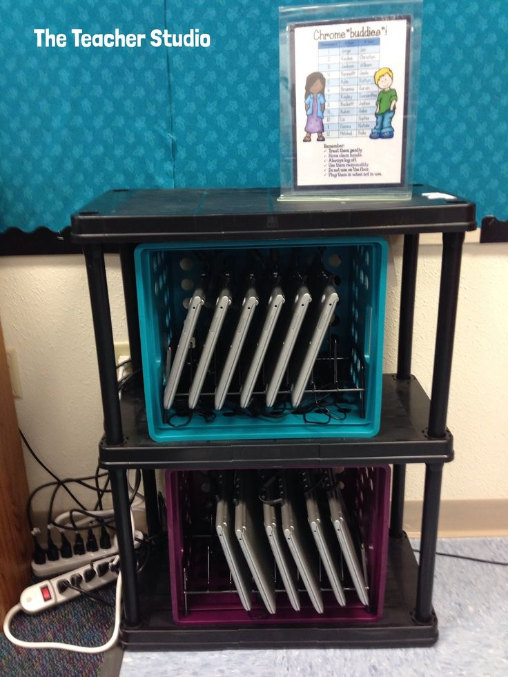 Monday Made It:  Bulletin boards, signs, giveaway winners, and more!  Check out how I am storing my new Chromebooks...some classroom decor ideas and MORE!