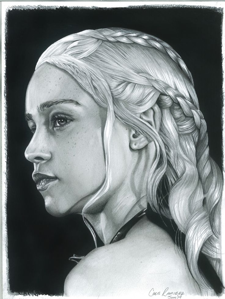 Daenerys Targaryen – The Mother of Dragons. Another awesome drawing from Chris Ramirez