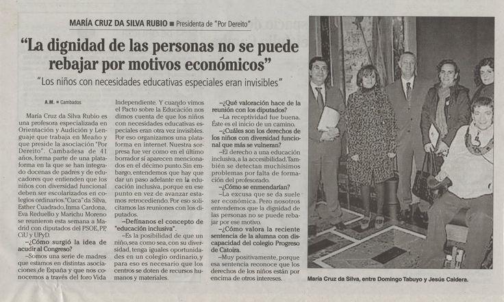 PNL Madrid. Pordereito fue una de las entidades firmantes y su presidenta una de las impulsoras de este movimiento...