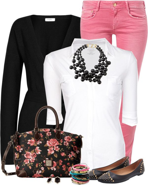 Dooney & Bourke Rose Satchel Spring Outfit - 204 Best Black And Pink Outfits Images On Pinterest Pink Black