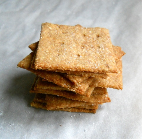 Vintage Kitchen Notes: Homemade Wheat Thin Crackers + Roasted Red ...