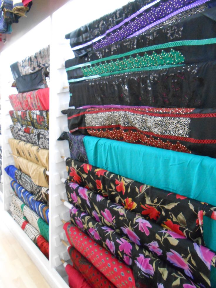 Fabric sourcing in Manchester, Curry Mile. Own image.