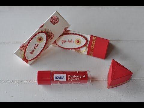 Tutorial: Lippenpflege in einer dreieckigen Box verpacken