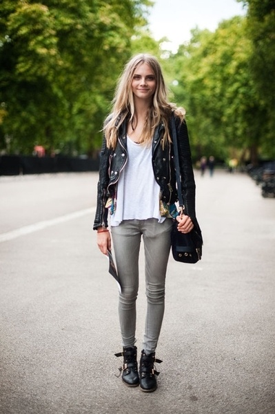 #110: Fashion, Street Style, Outfit, Delevingne Face, Caradelevingne, Leather Jackets, Face Delevigne