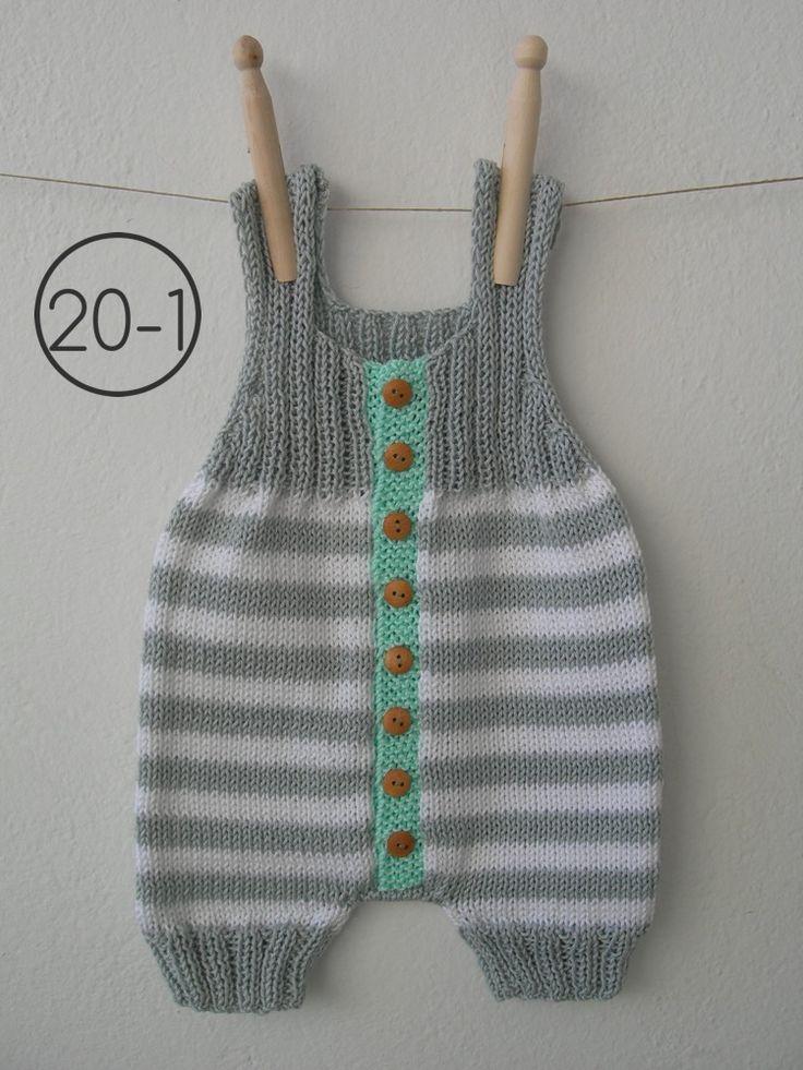 Mono de rayas combinando punto jersey y punto de elástico doble. La base en gris y el remate de los botones de madera, siempre en aguamarina.    Colores:  20-1  GRIS-BLANCO 20-2  GRIS-VISÓN 20-3  GRIS-BERENJENA    Tallas:  3-6 meses (56-68 cm) 6-9 meses (68-74 cm) 9-12 meses (74-80 cm)