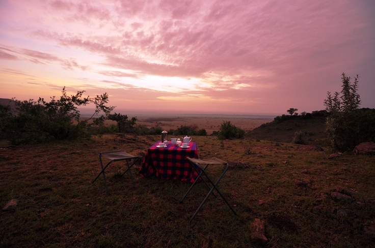 Sunrise breakfast, Sanctuary Olonana Camp, Kenya