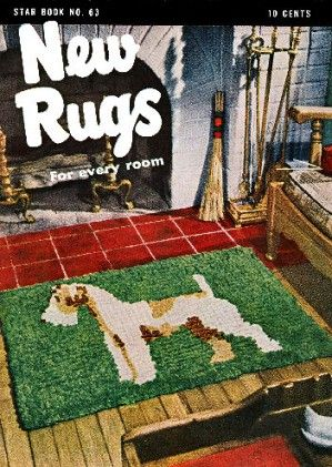 New Rugs for Every Room tufted, braided, filet crochet Vintage Patterns Book for download