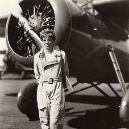 Aviator Amelia Earhart was born on July 24, 1897, in Atchison, Kansas. On May 15, 1923, Amelia Earhart became the 16th woman to be issued a pilot's license. She had several notable flights and became the first woman to fly across the Atlantic in 1928, and the first person to have flown both oceans. In 1937, she mysteriously disappeared while trying to circumnavigate the globe from the equator.