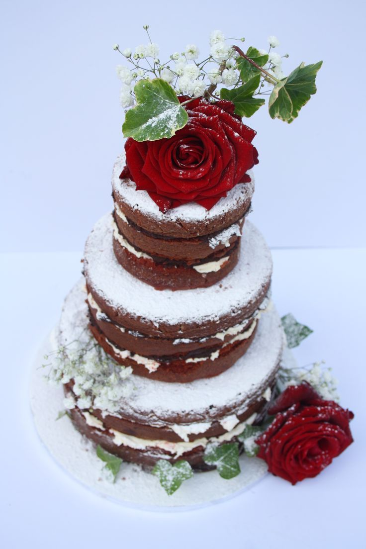 how to make a naked rustic cake   Ruby's Pins – Naked Wedding Cakes   Ruby Wedding Design
