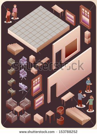 my popular vector on shutterstock. get it now ! here #vector #digital art #illustration #interior # isometric #cool #popular #architec #detail #work